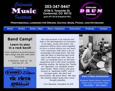 Home page for Colorado Music Institute